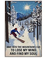 skiing find my soul sun 11x17 Poster front