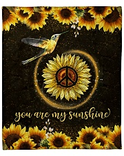 "hummingbird you are my sunshine Fleece Blanket - 50"" x 60"" front"