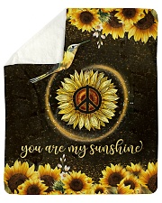 "hummingbird you are my sunshine Sherpa Fleece Blanket - 50"" x 60"" thumbnail"