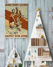 surfing Family On Beach Lived Happily 11x17 Poster lifestyle-holiday-poster-2