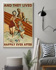 surfing Family On Beach Lived Happily 11x17 Poster lifestyle-poster-1