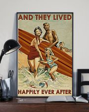 surfing Family On Beach Lived Happily 11x17 Poster lifestyle-poster-2