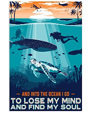 scuba diving find my soul turtle 16x24 Poster front