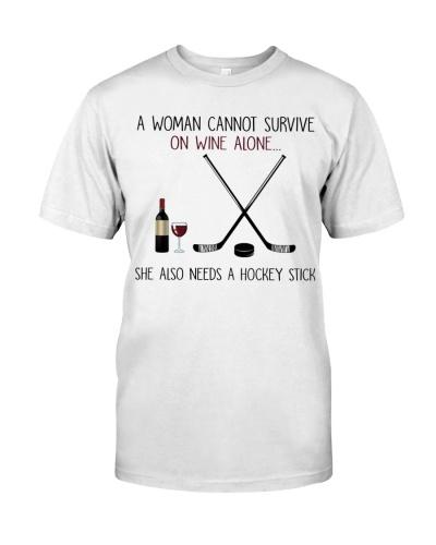 hockey woman wine hockey stick