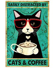 Black Cat And Coffee 11x17 Poster front
