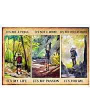 hiking not a phase pt phq nna 17x11 Poster front