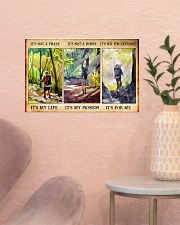 hiking not a phase pt phq nna 17x11 Poster poster-landscape-17x11-lifestyle-22