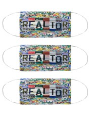 realtor plate mas Cloth Face Mask - 3 Pack front