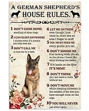 german shepherd house rule 11x17 Poster front