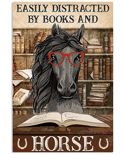 distracted horse book poster