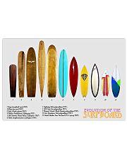 surfboard poster evolution 17x11 Poster front