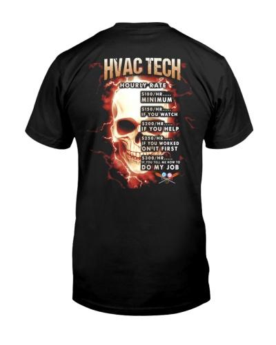 hvac tech hourly rate