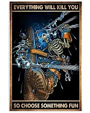 lineman skull choose st fun pt phq ntv 11x17 Poster front