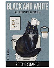 Tuxedo Cat Toilet PP 11x17 Poster front