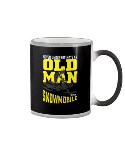 snowmobile old man