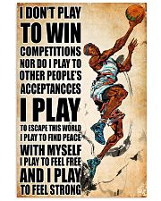 dont play to win basketball 16x24 Poster front