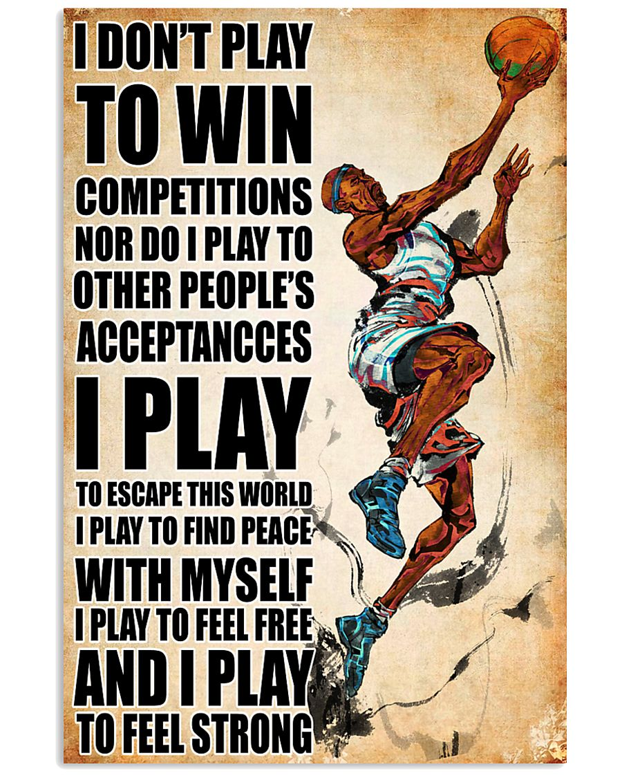 dont play to win basketball 24x36 Poster