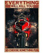 ducat skull choose something fun poster  11x17 Poster front