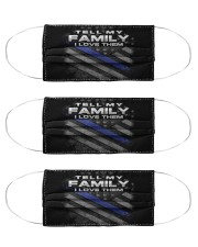 Police Love Family Cloth Face Mask - 3 Pack front