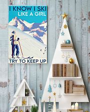 Skii girl try to keep up poster 11x17 Poster lifestyle-holiday-poster-2