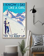 Skii girl try to keep up poster 11x17 Poster lifestyle-poster-1