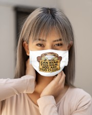 sloth read this too close mas Cloth Face Mask - 3 Pack aos-face-mask-lifestyle-18