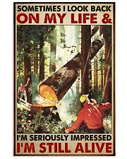 arborist Lumberjack look back still alive lqt PML 11x17 Poster front