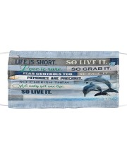 Dolphin life is short mas Mask tile