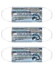 Dolphin life is short mas Cloth Face Mask - 3 Pack front