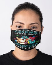 coffee crocheting makes you thin mas Cloth Face Mask - 3 Pack aos-face-mask-lifestyle-01