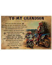biker grandpa to my grandson pt lqt ngt 24x16 Poster front