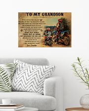 biker grandpa to my grandson pt lqt ngt 24x16 Poster poster-landscape-24x16-lifestyle-01