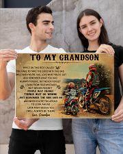 biker grandpa to my grandson pt lqt ngt 24x16 Poster poster-landscape-24x16-lifestyle-21