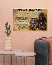 biker grandpa to my grandson pt lqt ngt 24x16 Poster poster-landscape-24x16-lifestyle-22