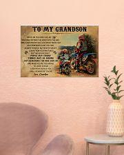 biker grandpa to my grandson pt lqt ngt 24x16 Poster poster-landscape-24x16-lifestyle-23