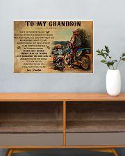 biker grandpa to my grandson pt lqt ngt 24x16 Poster poster-landscape-24x16-lifestyle-25