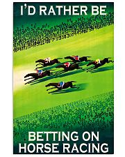 horse racing betting on 16x24 Poster front