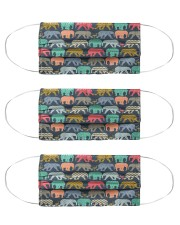 baby elephants and flamingos mas Cloth Face Mask - 3 Pack front