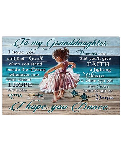 For Granddaughter I Hope You Dance poster