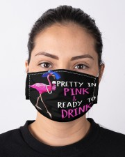 Flamingo Pink Drink Cloth Face Mask - 3 Pack aos-face-mask-lifestyle-01