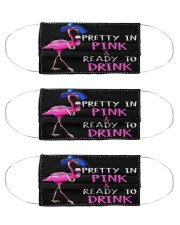 Flamingo Pink Drink Cloth Face Mask - 3 Pack front