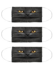 black cat mas Cloth Face Mask - 3 Pack front