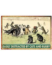 rugby cats easily distracted pt phq nna 17x11 Poster front