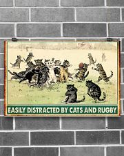 rugby cats easily distracted pt phq nna 17x11 Poster poster-landscape-17x11-lifestyle-18