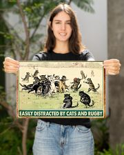 rugby cats easily distracted pt phq nna 17x11 Poster poster-landscape-17x11-lifestyle-19