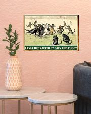 rugby cats easily distracted pt phq nna 17x11 Poster poster-landscape-17x11-lifestyle-21