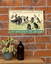 rugby cats easily distracted pt phq nna 17x11 Poster poster-landscape-17x11-lifestyle-23