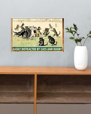rugby cats easily distracted pt phq nna 17x11 Poster poster-landscape-17x11-lifestyle-24