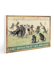 rugby cats easily distracted pt phq nna Gallery Wrapped Canvas Prints tile