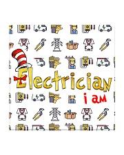 electrician i am mas Square Coaster thumbnail